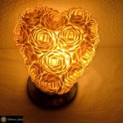 Muschellampe / Tischlampe mit Muscheln